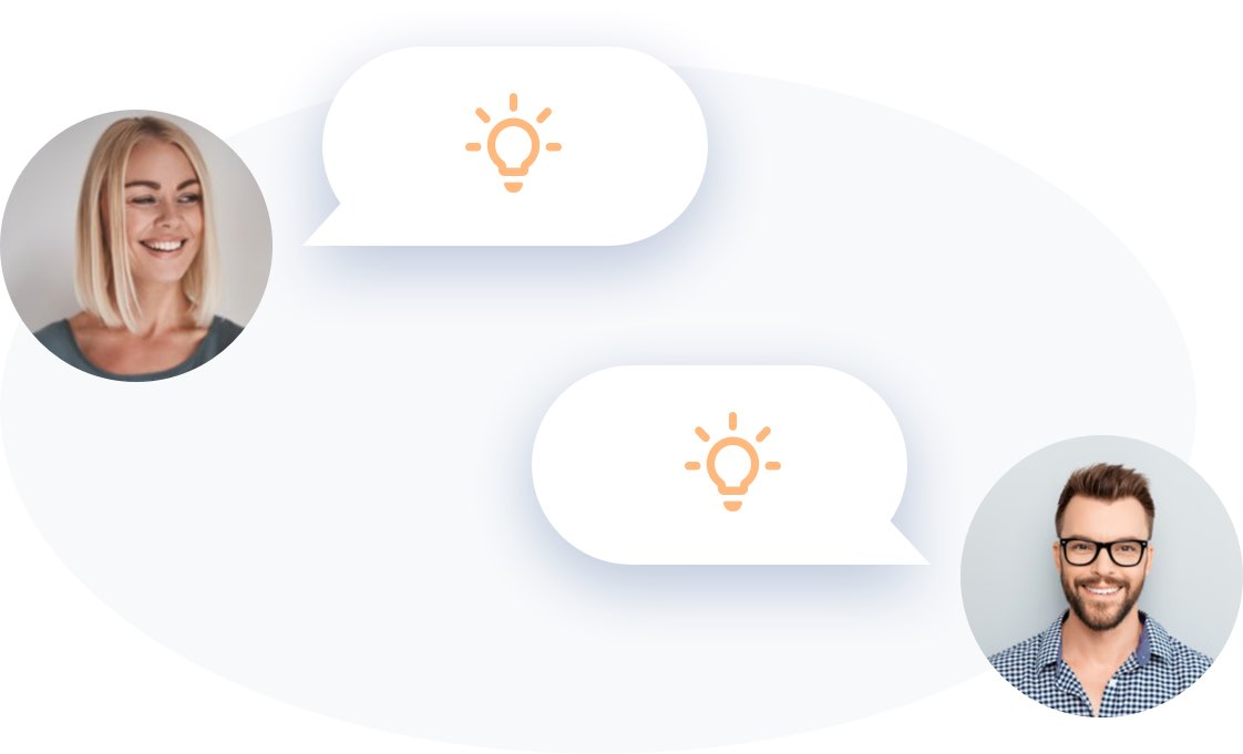 Customers sharing their ideas
