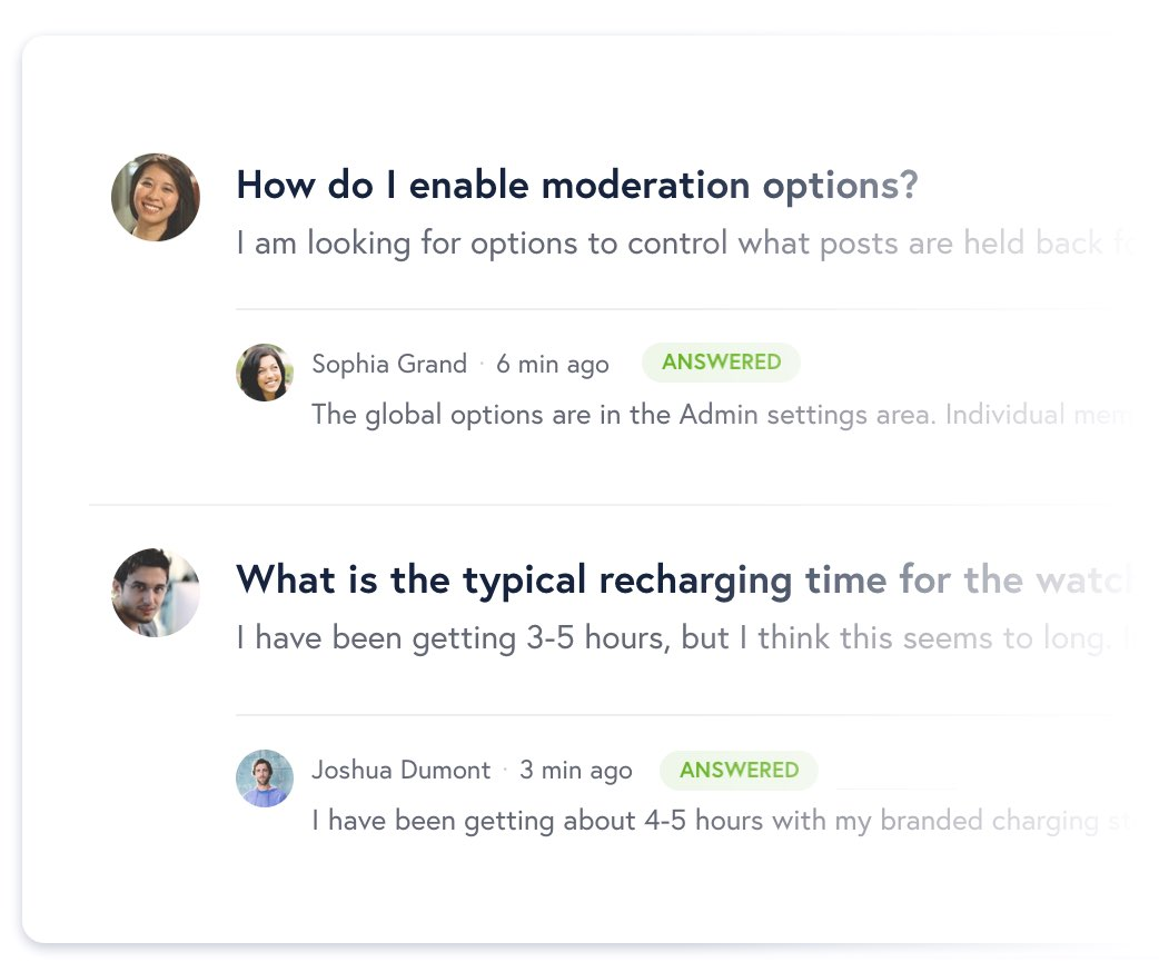 Crowdsourced questions and answers